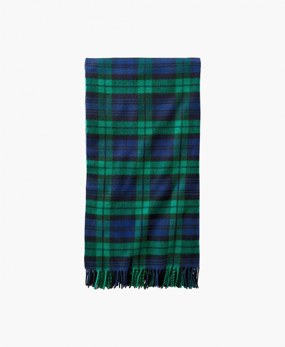 Fifth Avenue Fringed Wool Throw