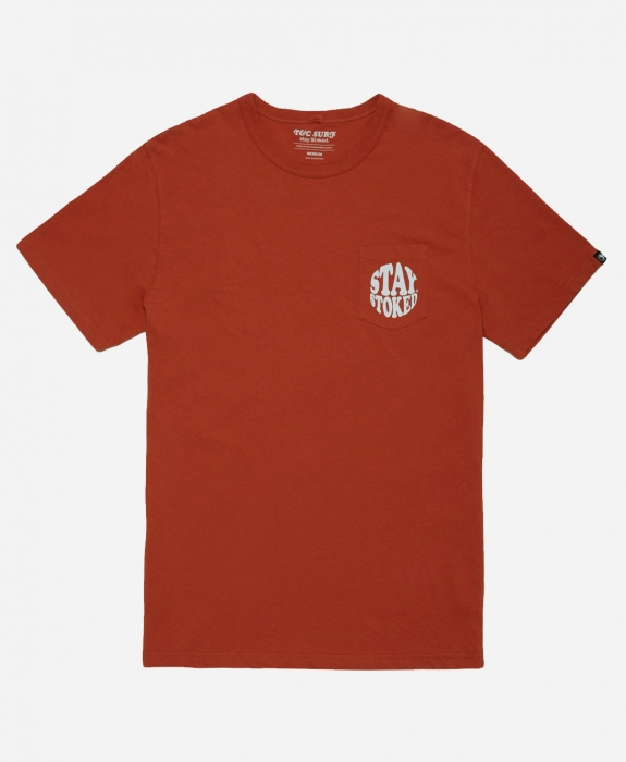 Town & Country Surfboards - Stay Stoked Pocket Tee