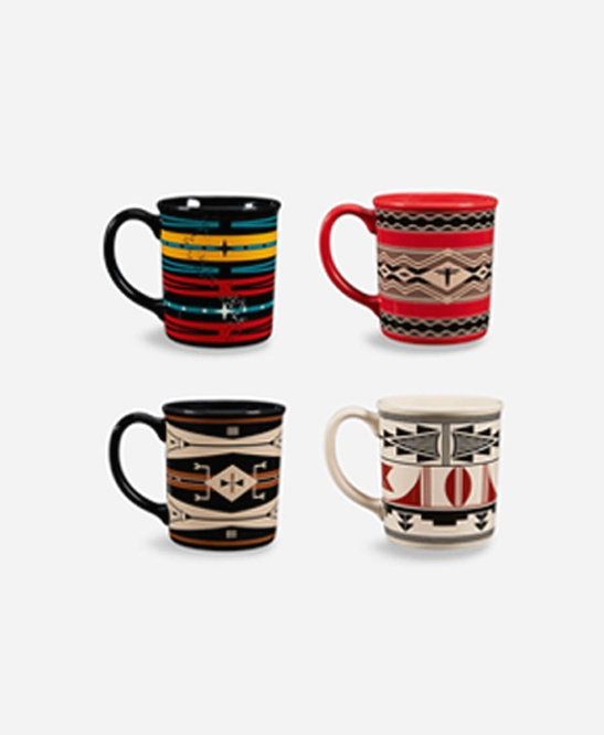 Pendleton - 12oz Ceramic Mug Set of 4