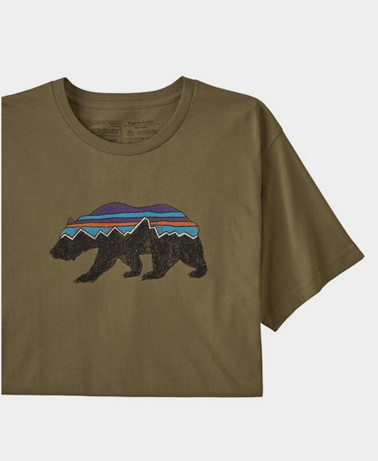 Fitz Roy Bear Organic T-shirt