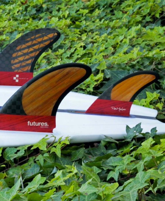 Futures Fins - Machado 2+1 Blackstix Bamboo & Carbon