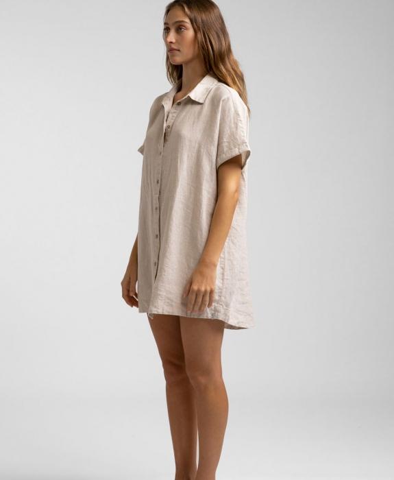 Rhythm - Classic Linen Shirt Dress