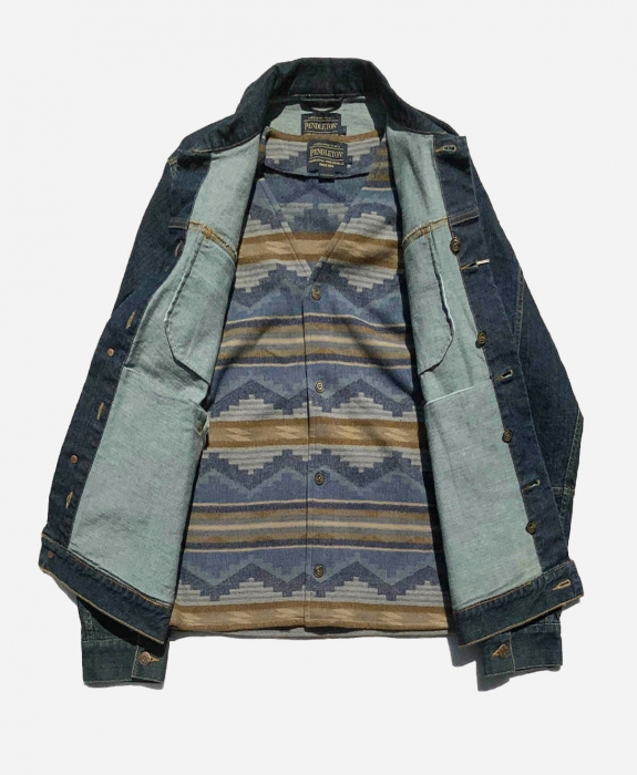 Denim Vest with Pinetop Wool Insert