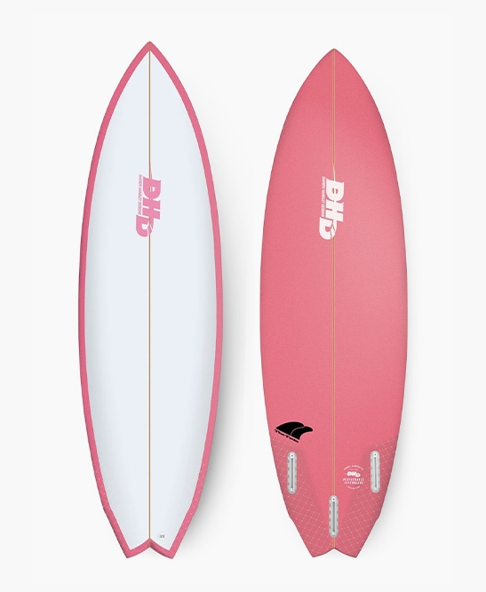 DHD Surfboards - Twin Fin 5'10 Pink Candy