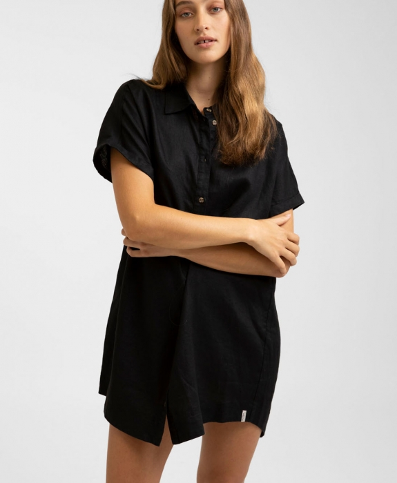 Rhythm - Classic Linen Shirt Dress