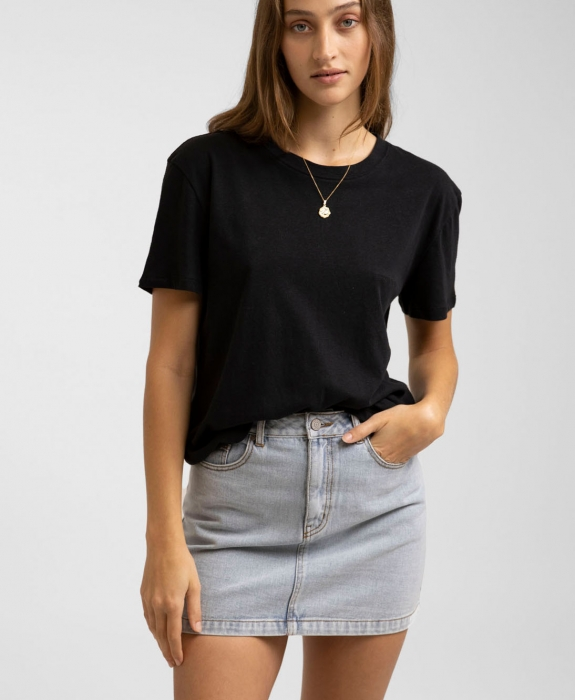 Rhythm - Classic A-Line Denim Skirt