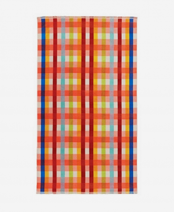 Laguna Plaid Oversized Beach Towel