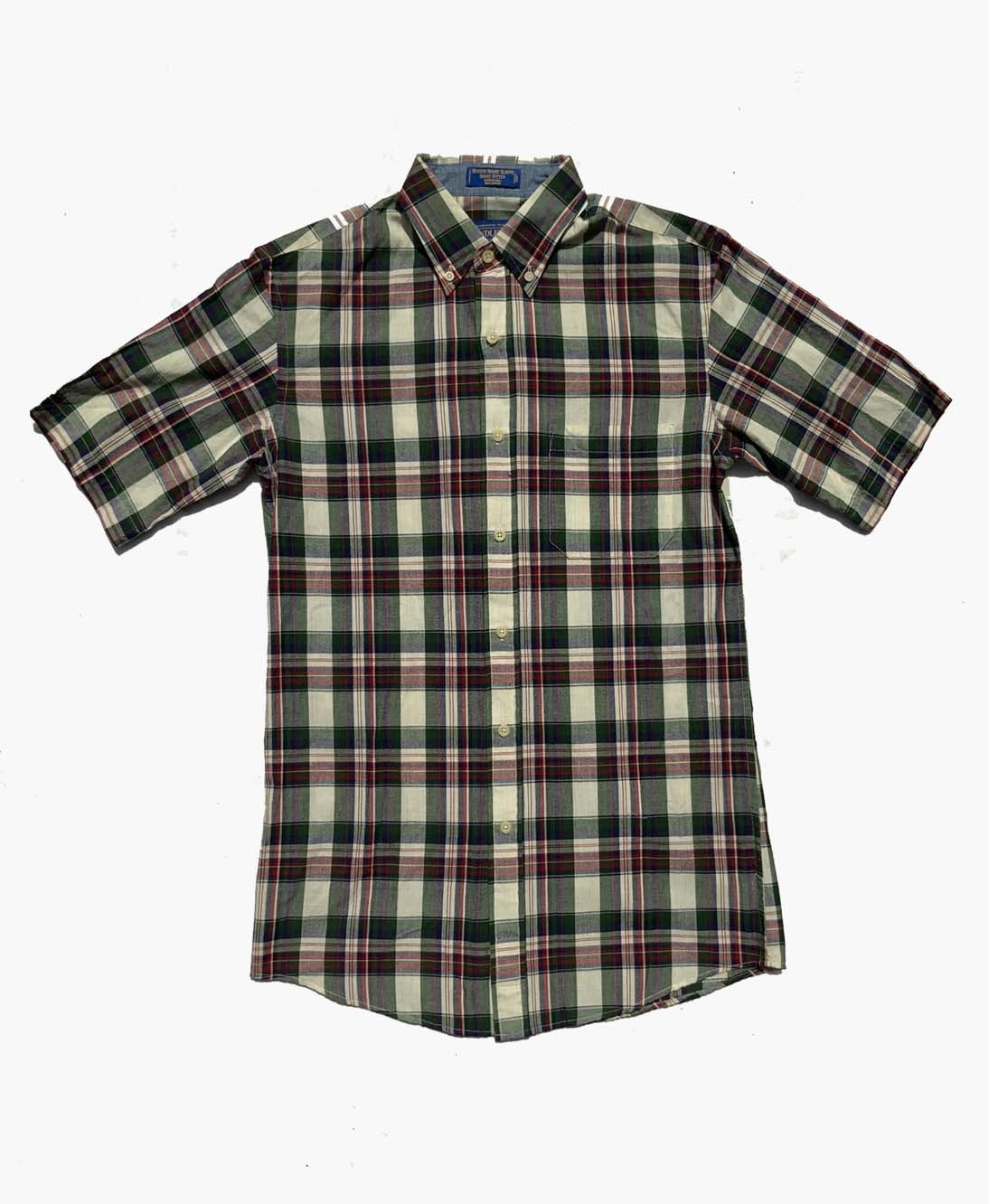 SS Fitted Seaside Shirt Green & Blue