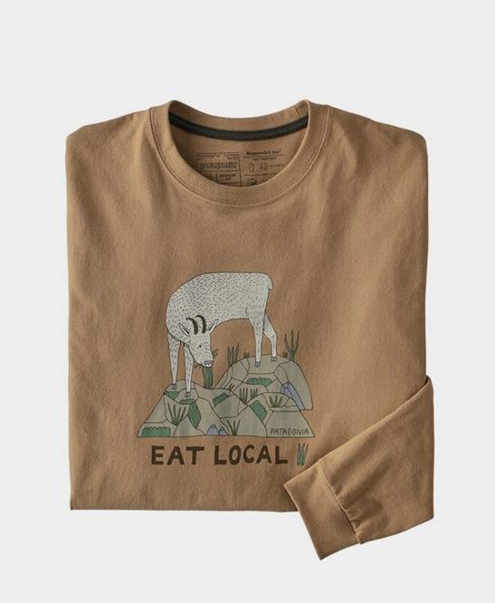 Patagonia - L/S Eat Local Goat Responsibili-tee