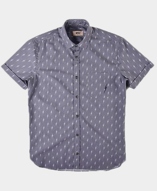 S/S Blue Bolted Shirt